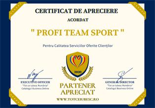 Certificat de apreciere acordat TCI